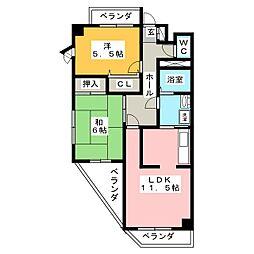 トミー寺崎[7階]の間取り