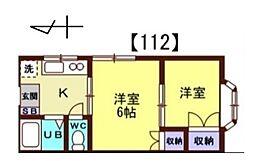 ほうれん荘[112号室]の間取り