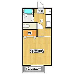 シェリールマナベ[1階]の間取り