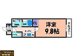 大阪府堺市北区北長尾町8丁の賃貸マンションの間取り