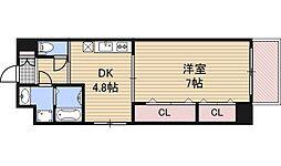 アスヴェル梅田WEST[2階]の間取り
