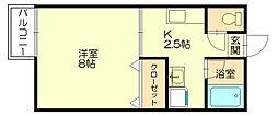 福岡県糟屋郡粕屋町花ヶ浦4丁目の賃貸アパートの間取り