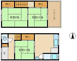 [テラスハウス] 兵庫県尼崎市水堂町1丁目 の賃貸【/】の間取り