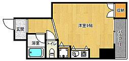 京都府京都市下京区東境町の賃貸マンションの間取り