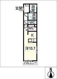仮)洞町寺前賃貸住宅[2階]の間取り