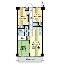ライオンズマンション高崎[3階]の間取り