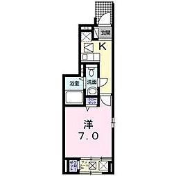 愛知県名古屋市緑区小坂1丁目の賃貸アパートの間取り