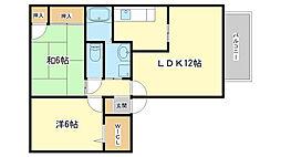 ブルータハウス[203号室]の間取り
