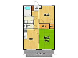 荻野MGレヂデンス2[3階]の間取り