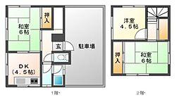 [一戸建] 岡山県岡山市北区東古松5丁目 の賃貸【/】の間取り