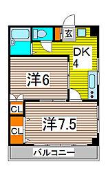 第7秋葉ビル[303号室]の間取り