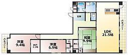 グランディア ミ・アモーレ六甲道[2階]の間取り