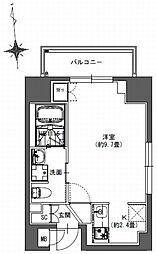 S-RESIDENCE東神田 3階1Kの間取り