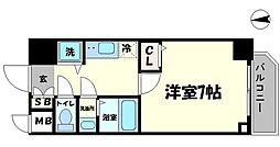 リッツ難波南II[7階]の間取り