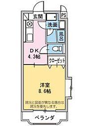 フィオーレK[3階]の間取り