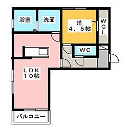 D−room東田中[2階]の間取り