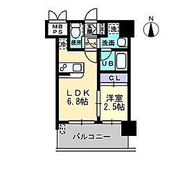 ラエスパシオ箱崎[6階]の間取り
