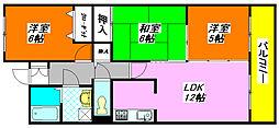 ルー・ド・メール 20B号室[2階]の間取り