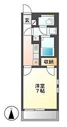 クレイノZUKA[3階]の間取り