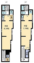 アート三河島[1階号室]の間取り