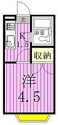 ジョイフル松戸[209号室]の間取り
