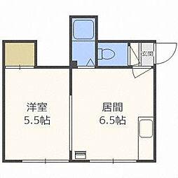 コーポフラワー[1階]の間取り