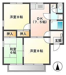 セジュール寺島 B棟[2階]の間取り
