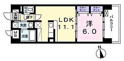 東京都西東京市東伏見4丁目の賃貸マンションの間取り
