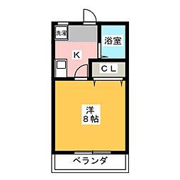愛知県名古屋市守山区八剣1丁目の賃貸マンションの間取り