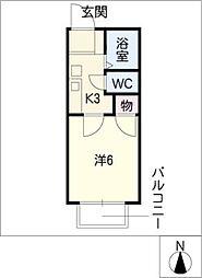 aile motoyagoto[2階]の間取り