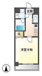 アマーレ東海通[3階]の間取り