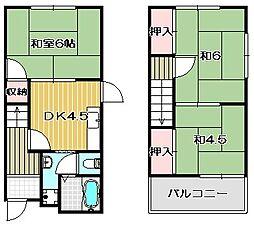 [一戸建] 大阪府茨木市上野町 の賃貸【/】の間取り