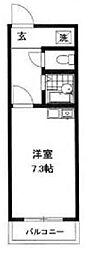 神奈川県横浜市鶴見区北寺尾2丁目の賃貸マンションの間取り