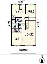 檀渓アイリス103号室[1階]の間取り