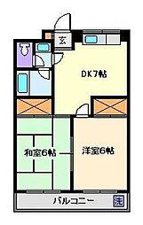 コーポTANAKA[4階]の間取り
