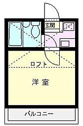 アートパレス上福岡[202号室]の間取り