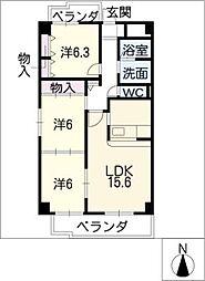 COSMOS[2階]の間取り