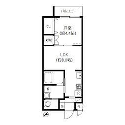 JR山手線 大塚駅 徒歩6分の賃貸マンション 2階1LDKの間取り