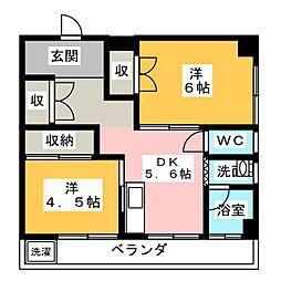 コーポ内藤[2階]の間取り