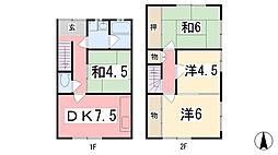 [一戸建] 兵庫県姫路市夢前町山富 の賃貸【兵庫県 / 姫路市】の間取り