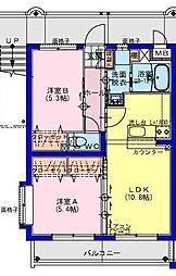 (仮称)川南町マンション 1階2LDKの間取り