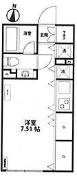 東京都豊島区目白3丁目の賃貸マンションの間取り