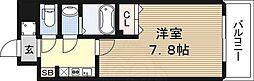 エスリード新大阪CONFORT2番館 1階1Kの間取り