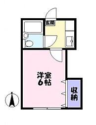 サニー子安[1階]の間取り