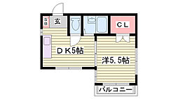 長田ビル[6階]の間取り