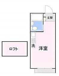 リブ氷川台[2階]の間取り