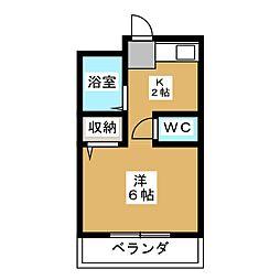 柴田ハイツ[1階]の間取り