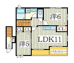 サニーメゾンIII[2階]の間取り