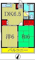 第4サンハイツ[1階]の間取り