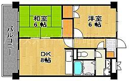 パ−クサイド薬院[7階]の間取り
